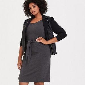 Grey Tie Front shift Dress